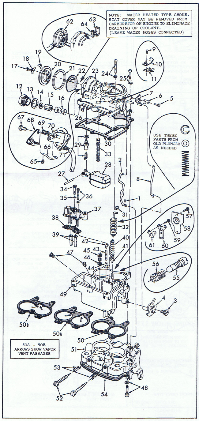 quadrajet parts diagram