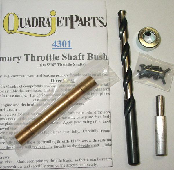 Carburetor Bushing Installation Kit, for 5/16
