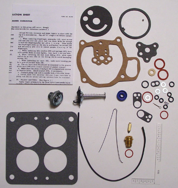 Holley 4000 Carburetor Rebuild Kit (Q4084A) - FORD 1956-57, LINC