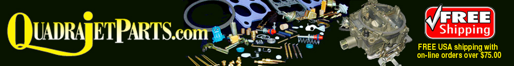 Screws, Clips, Retainers - QuadrajetParts.com is your one stop Carter, Ford Motorcraft, Holley, Rochester Carburetor Parts Superstore, Quadrajet, 4G, 2G, AFB, AVS, Thermo-Quad Carburetor Rebuilding and Tuning Parts