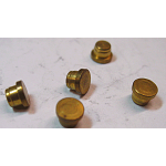 "Plug- Brass Rivet Plug Carter 1/4"" (Qty:5)"